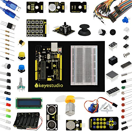 keyestudio Electronic Learning Toy for Arduino Uno R3 Project Maker Starter Kit with Tutorial Includes 35 Interesting Lessons Diy Electronic Science Kits For Stem Education