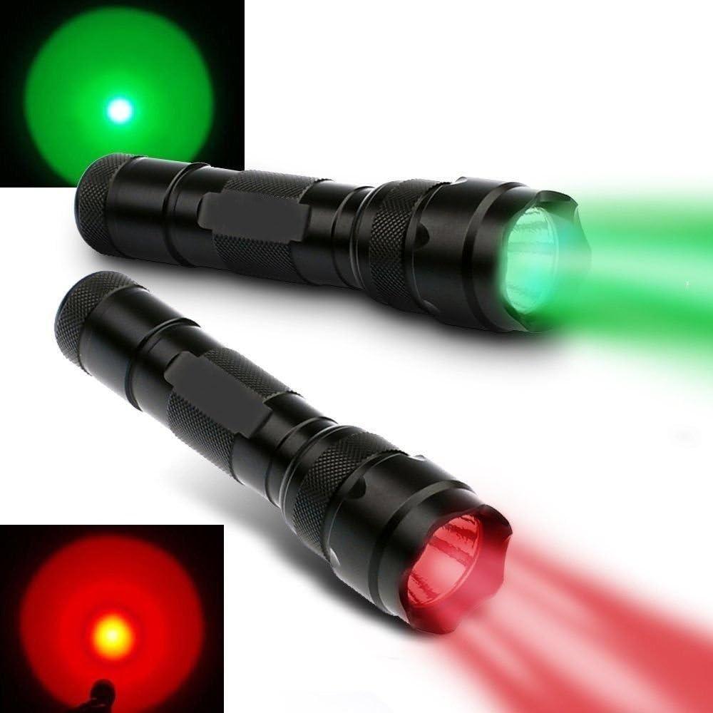 XP-E 200 Lumen 150 Yard Red Light Flashlight Hunting Fishing Tactical Torch