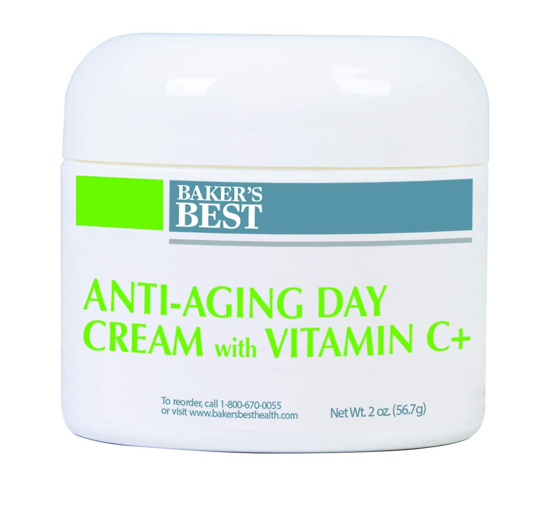 Baker's Best Anti-Aging Day Cream with Vitamin C+ – Collagen moisturizer, face moisturizer, fine lines, wrinkles, elasticity, collagen, face, neck, and body – Vitamin C, Vitamin E