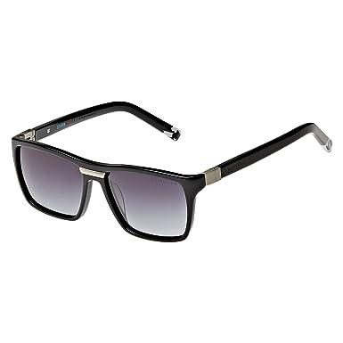 62bf9775e نظارة شمسية بتصميم مستطيل من دولتشي اند غابانا لكلا الجنسين - اطار بلون  اسود، عدسات بلون رمادي، DG421-501/8G