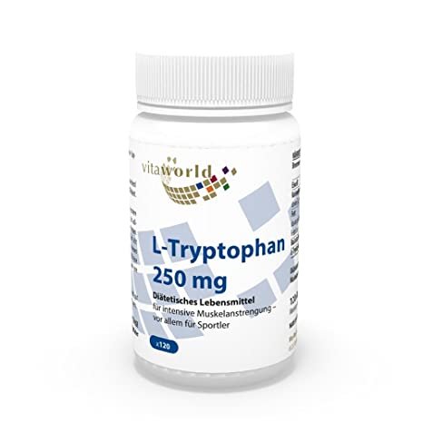 L-Triptófano 250mg 120 Cápsulas Vegetales - Vita World Farmacia Alemania