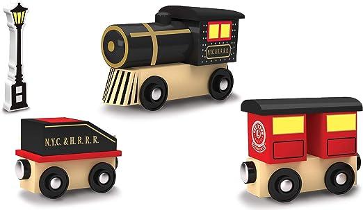 MasterPieces Lionel Original Steam Engine Real Wood Toy Train Set Assorted