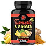 Angry Supplements Turmeric Curcumin & Ginger Maxx, 95% Curcuminoids with Black Pepper, Reduce Inflammation & Joint…