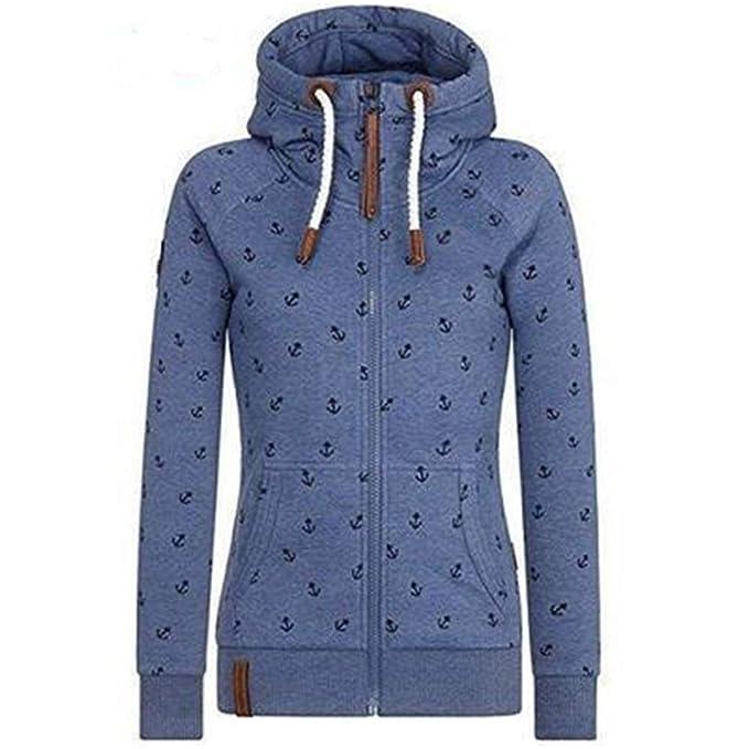 finest selection c1288 2240e Newbestyle Jacke Damen Sweatjacke Hoodie Sweatshirt Oberteile Damen  Pullover Kapuzenpullover Pulli mit Reissverschluss
