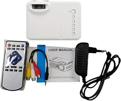 LED Proyector Portátil, Hogar Compacto HD 1080P LED Proyector ...