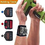 Bracelet magnétique pour bricoleur, 5aimants puissants pour maintenir vos outils, vis, clous, ciseaux, embouts, et bien plus - Un cadeau unique et pratique pour homme, femme, père, mari, petit ami, etc., vert