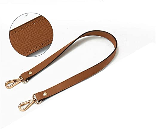 HOUTBY Replacement Purse Strap Leather For Shoulder Handbags Bag Buckles DIY 23.62 Yellow