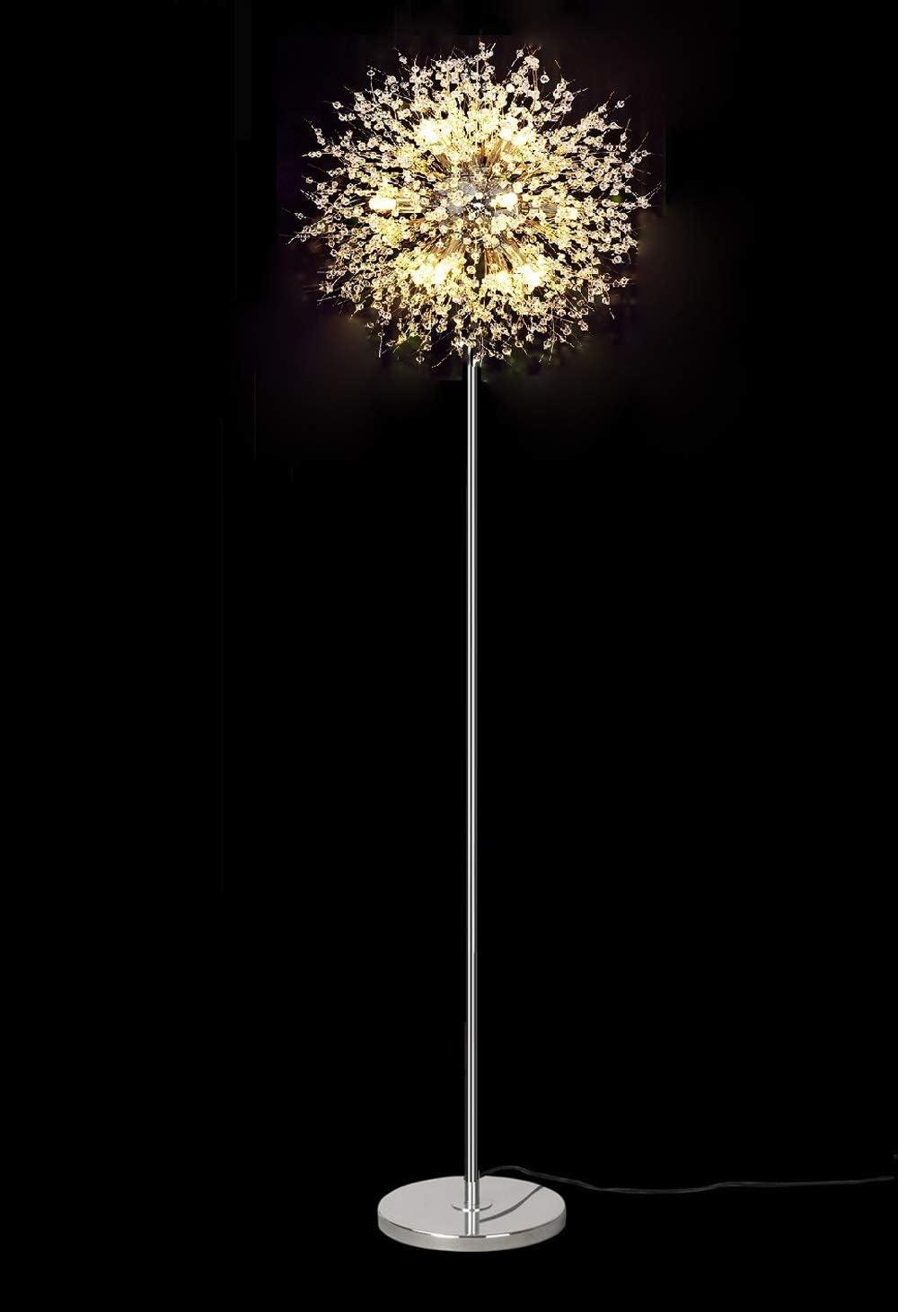 Dellemade TD00911 Sputnik Chandelier Floor Lamp Fireworks Silver Floor Lamp