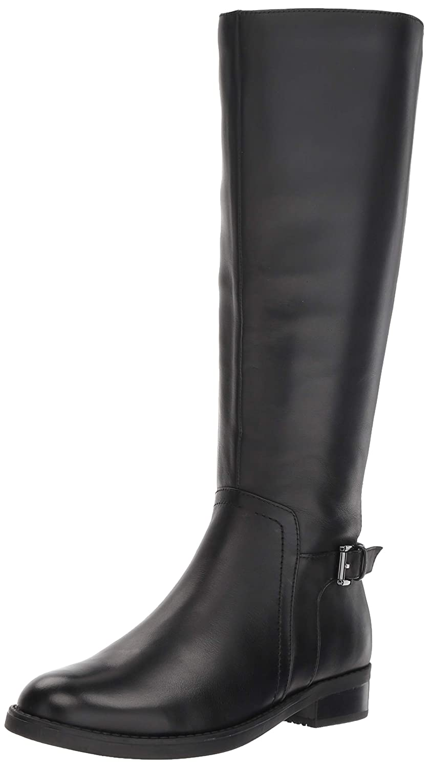 Black Leather Blondo Womens Evie Fashion Boot
