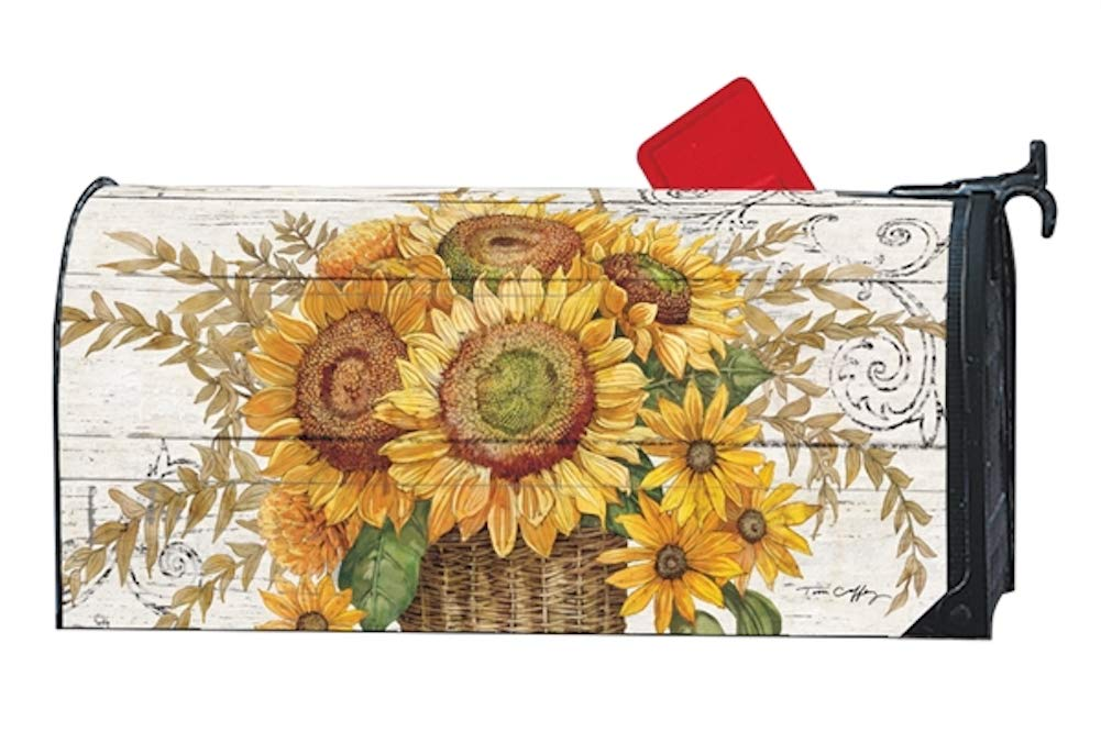 Studio M Fall Outdoor Mailbox Cover MailWrap - Farmhouse Sunflower by Studio M