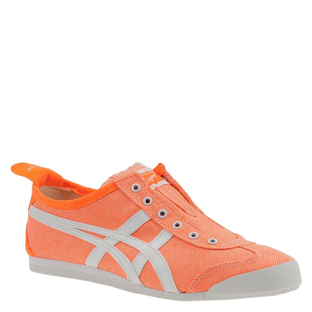 Onitsuka Tiger Womens Mexico 66 Slip-On Hot Orange//White Ankle-High Fashion Sneaker 9.5M