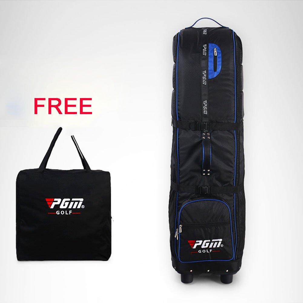 PGM旅行カバーバッグ – ---パッド入ります。Wheeled、、折りたたみ式、無料送信Aストレージバッグ、# hkb009 B01M0T3GIL  ブラックブルー