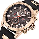 Casual Sport Watches for Men,Fashion Quartz Watch,Mens Chronograph Waterproof Wristwatch with Date Display