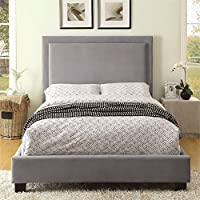Furniture of America Luna Queen LED Bed in Gray