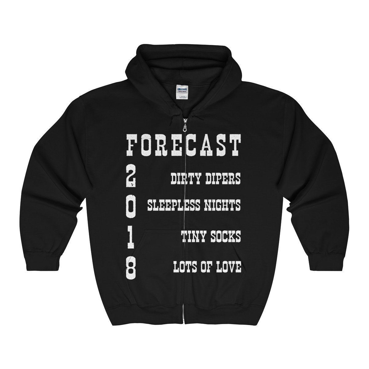 Tee Doryti Mens Funny New Dad Gift For Expecting Fathers Unisex Zip Hooded Sweatshirt