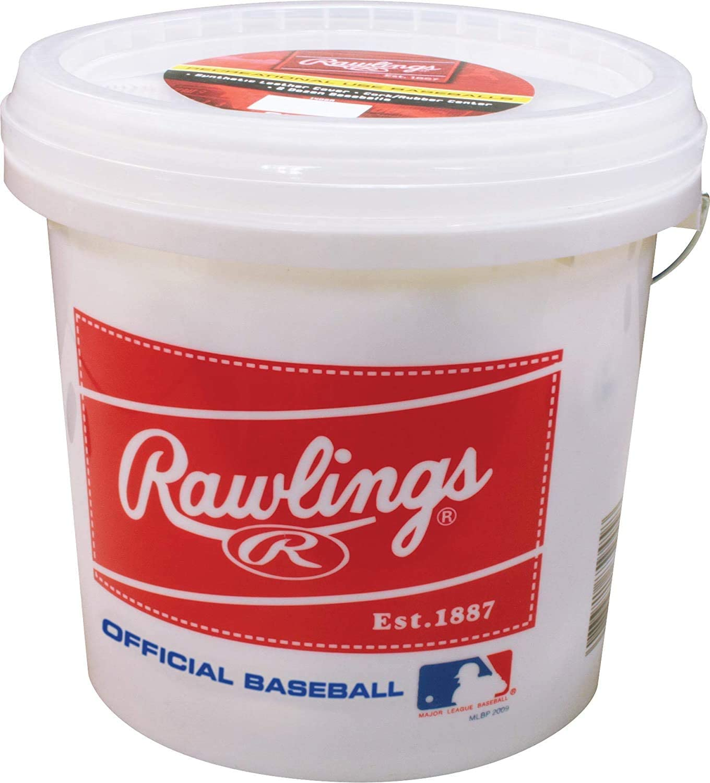 RECREATIONAL GRADE BASEBALLS Rawlings Official League 24 Baseball Durable Bucket