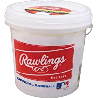 Rawlings Official League Recreational Grade OLB3/R8U Baseballs, Bucket of 24 Balls...