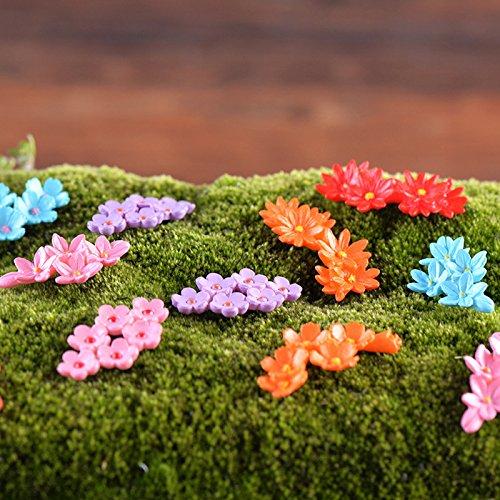 Figurines & Miniatures - 10pcs Miniature Flower Moss Bonsai Diy Crafts Fairy Garden Landscape Decor - Moss Books Lights Book Fencing Film Garden Japan Planner Flags Design Pots Landscape ()