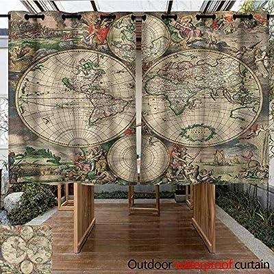 Sunnyhome Cortina de Puerta corredera con Texto en inglés Búsqueda de Palabras para oscurecer la habitación clásica, Reduce el Ruido: Amazon.es: Jardín