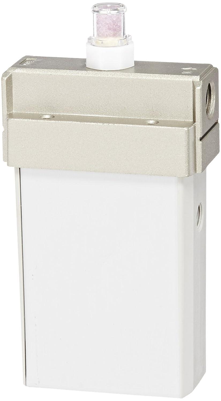 SMC IDG3-N02-S Membrane Air Dryer, 1/4' NPT, Outlet Air Flow 25 L/min; Purge Air Flow 6 L/min, -20 degrees Celsius Dew Point, with Dew Point Indicator