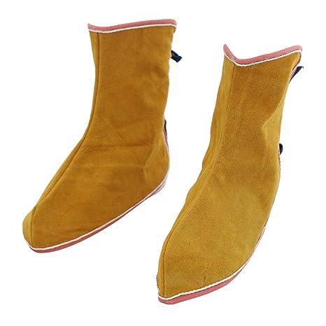 SM SunniMix Zapatos Protectores De Soldadura Zapatas De Zapatos Pantorrillas Pies Cubierta Soldador