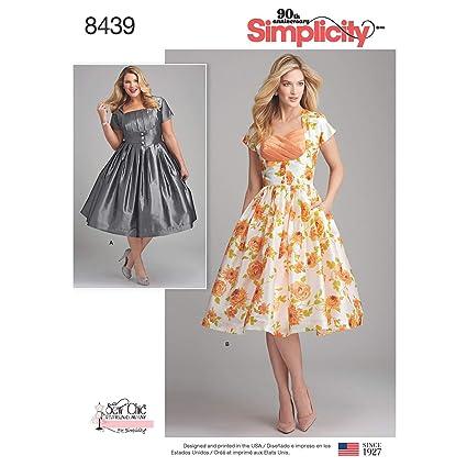 Amazon Com Simplicity Pattern 8439 Bb Misses Women S Dress With