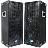 Grindhouse Speakers - GH28L-Pair - Pair of  Passive Dual 8 Inch 2-Way PA/DJ Loudspeaker Cabinets  - 900 Watt  each Full Range PA/DJ Band Live Sound Speaker