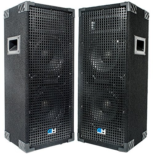 Grindhouse Speakers - GH28L-Pair - Pair of  Passive Dual 8 Inch 2-Way PA/DJ Loudspeaker Cabinets  - 900 Watt  each Full Range PA/DJ Band Live Sound Speaker by Grindhouse Speakers