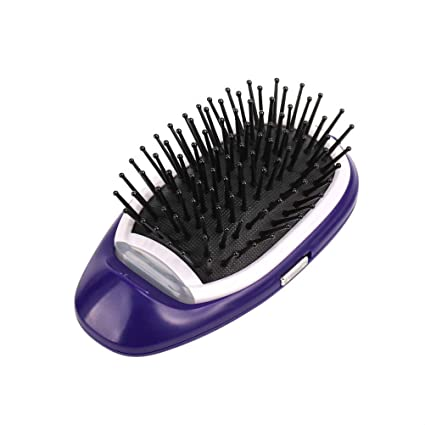 Cepillo alisador de cabello eléctrico, cepillo de cabello portátil de iones negativos para masajear el