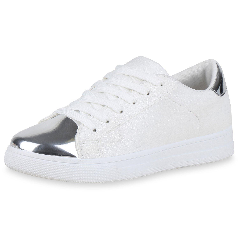 81d50729c658e6 SCARPE VITA Damen Sneaker Low Lack Metallic  Amazon.de  Schuhe   Handtaschen