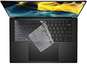 Ultra Thin Keyboard Cover for 2020 New Dell XPS 15 9500 15.6 inch Laptop, New XPS 17 9700 Keyboard Cover Protective Skin, Dell XPS 15 9500 Accessories, Clear (US Layout)