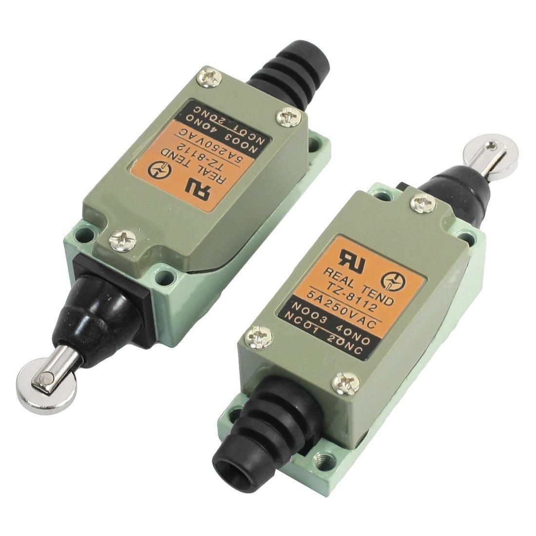 2PCS 5 a 250 VAC parallelo roller Plunger no + NC chiuso finecorsa Sourcingmap a14011400ux0345