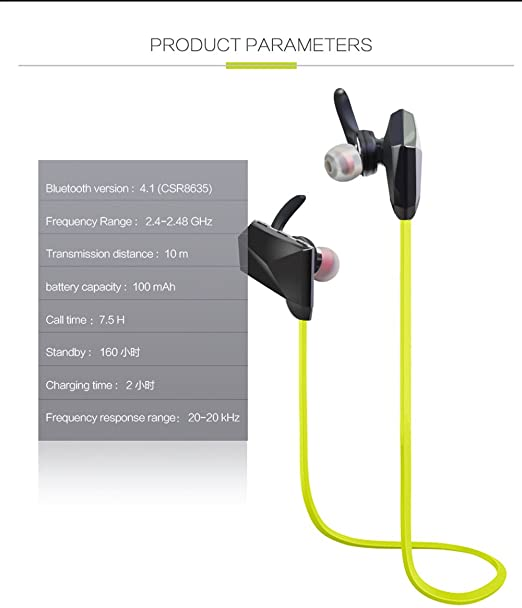 Amazon.com: Wireless Earphone Bluetooth Headset Noise Reduction Stereo Headset Sport Running in-ear Auriculares Cordless Headphones Bluetooth 4.1, ...
