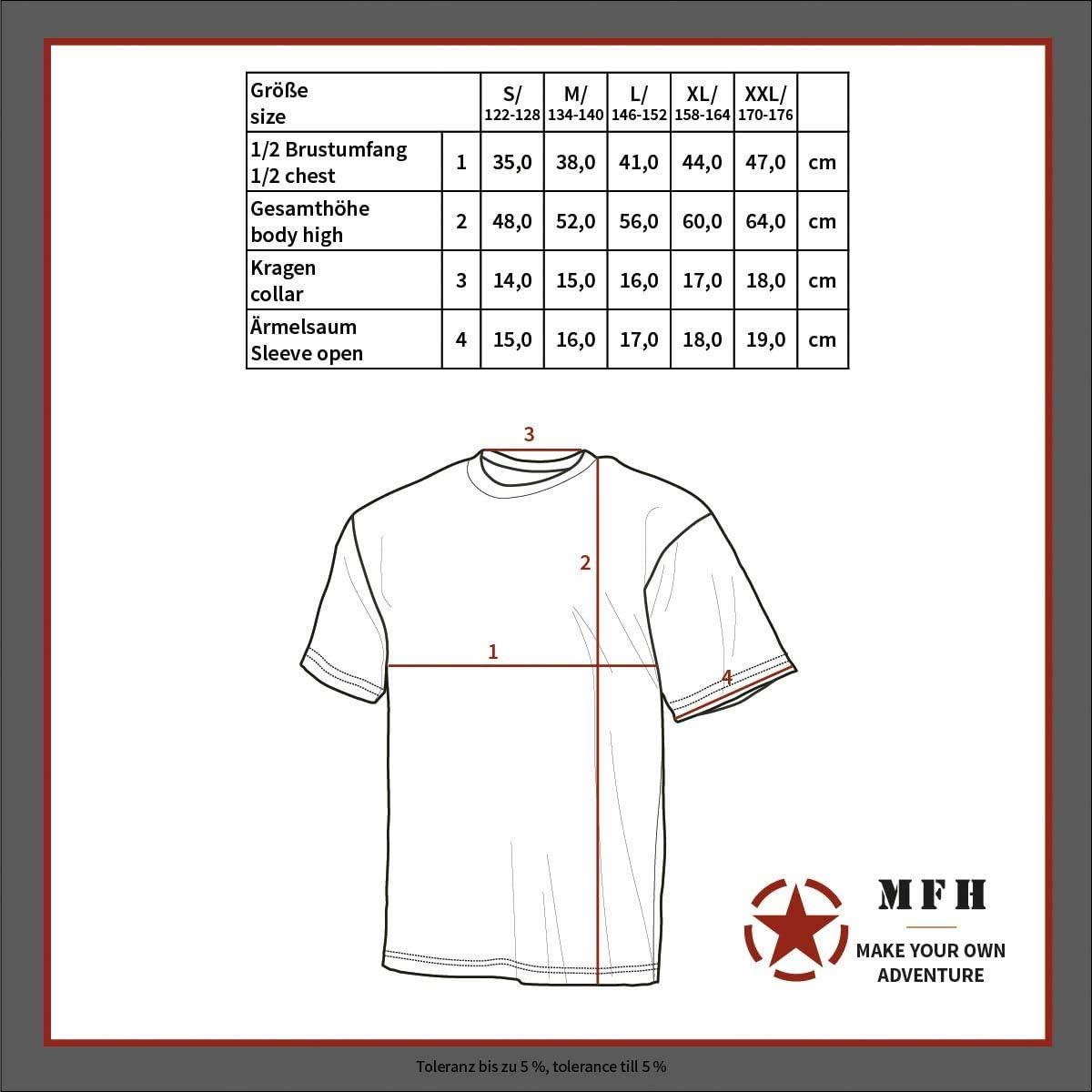 MFH Ni/ños Ej/ército Camuflaje Camiseta