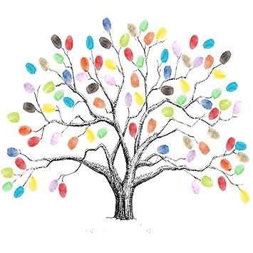 Mengger Fingerabdruck Baum Hochzeits Mit Stempelkissen Wedding Tree