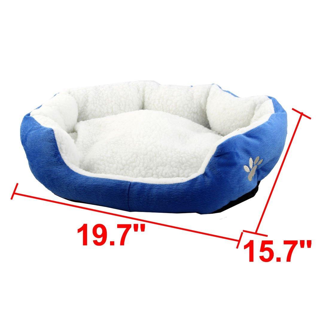 Amazon.com : eDealMax Felpa mascotas Oval del gato Forma de cojín extraíble cueva cama del perro de anidamiento 50cm x 40cm : Pet Supplies