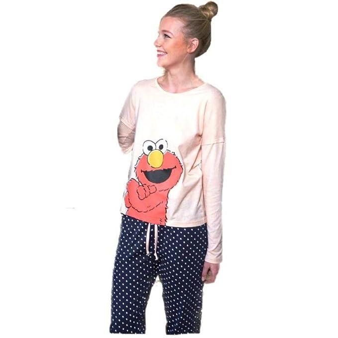 Pijama Mujer ELMO Barrio Sésamo Manga Larga (S)