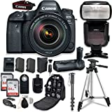 Canon EOS 6D Mark II with EF 24-105mm f/4L is II USM Lens - with Canon BG-E21 Battery Grip + Professional Accessory Bundle (15 Items)