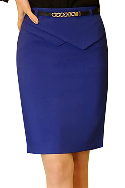 879eefb29 Nimpansa Mujeres Faldas Lapiz Solid Belted Mini Corto Apretado Falda ...