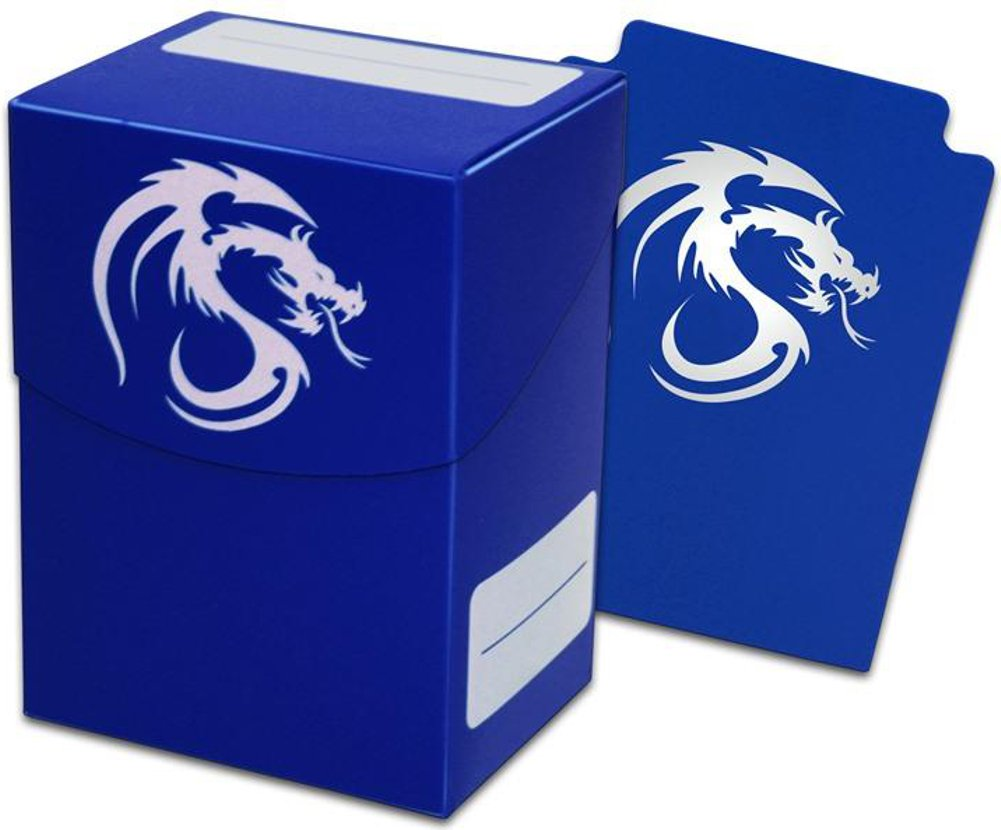 Blue Trading Card Boxes - Gaming Deck Cases - Each Holds 80 Cards - DC-BLU - (90 Boxes) by BCW