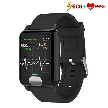 armo Pulsera de Actividad,ECG PPG Pulsera Inteligente con Pulsómetro Pulsera Deportiva y Monitor de Ritmo Cardíaco Monitor de Actividad Impermeable ...