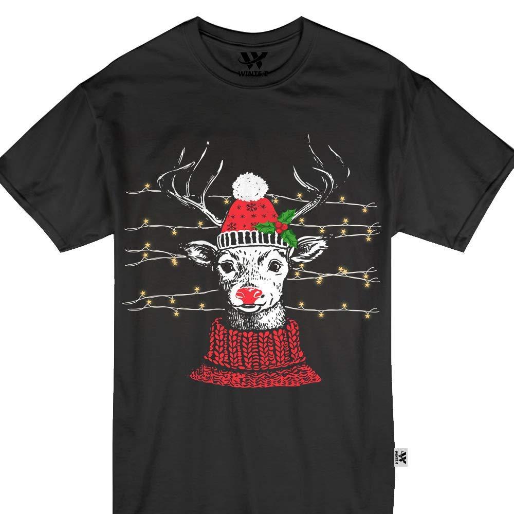 Christmas Rudolph Reindeer Hippie Gypsy Nosed Tshirt 1811