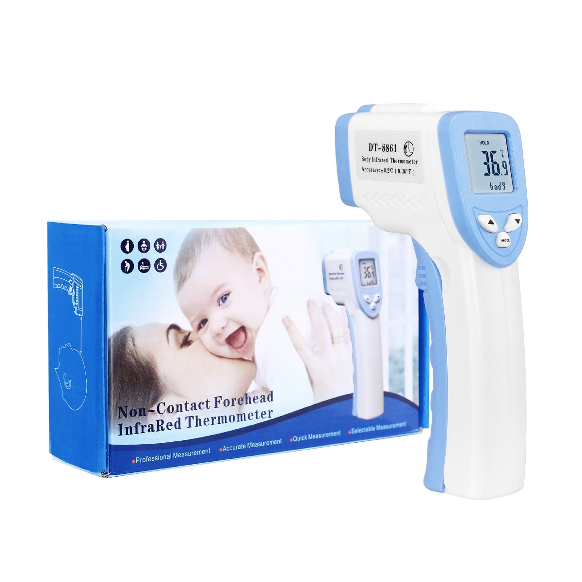 Infrared Baby Thermometer Household High Precision Medical Infrared Human Body Thermometer Precision Baby Electronic Thermometer Professional Design Thermometers