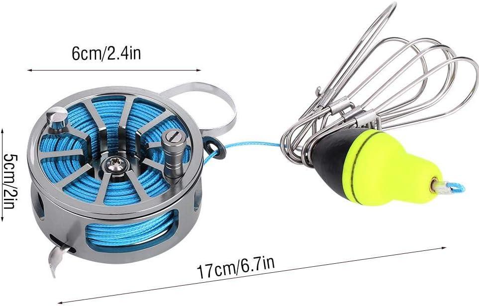 7m 5 Locks Chain Stringer mit Float Angelzubeh/ör Bicaquu Fish Lock Schnallen 6m