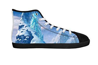 c4728cc34bfc CNHK Men s Frozen Cartoon Shoes Casual Flats Shoes Lace-up Fashion Sneakers  Classic High-