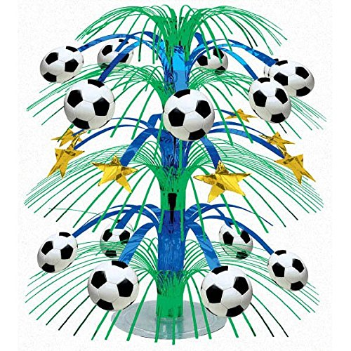 Decoration Cascade (Soccer Goal Birthday Party Cascade Table Centerpiece Decoration, Foil, 18