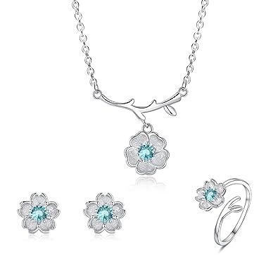 Amazon.com: ISAACSONG.DESIGN - Juego de anillos de plata de ...