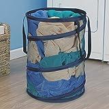 Ao blare 55x45CM Large storage Hampers Mesh Material nimal laundry bucket Children's Toys Basket Storage Bucket Folding Cylinder Laundry Basket Toy Box Organizer Mesh Pop-Up Laundry Hamper