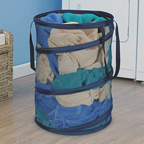 Ao blare 55x45CM Large storage Hampers Mesh Material nimal laundry bucket Children's Toys Basket Storage Bucket Folding Cylinder Laundry Basket Toy Box Organizer Mesh Pop-Up Laundry Hamper