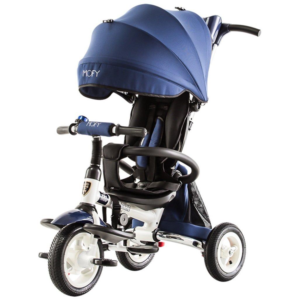 XQ T300子供用三輪車自転車キッズ自転車3-6歳パター用シートベルト 子ども用自転車 ( 色 : 青 ) B07CG8GSMK 青 青